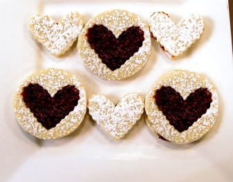 Assemble raspberry filled, Nut-Free Linzer Cookies with Phyllis