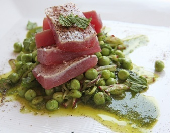 Make Michael's Torched Tuna & Pea Salad w/ Anchovy Vinaigrette