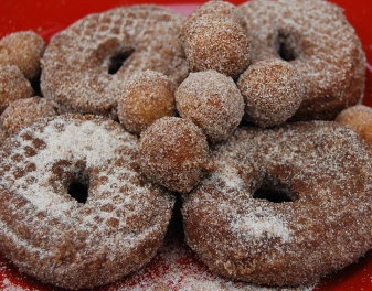 Nothing better than hot, homemade Cider Donuts in the fall