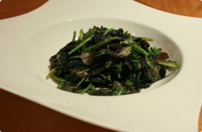 Sauteed Mustard Greens w/ Garlic & Ginger