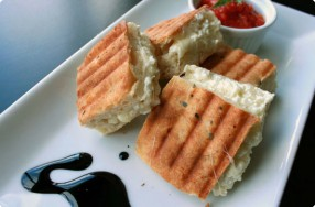 Grilled Asiago & Goat Cheese Sandwich w/ Tomato Jam