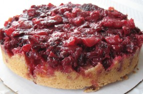 Cranberry Apple Upside-Down Cake