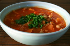 Sweet Potato, Chickpea & Cumin Soup