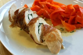 Prosciutto-Wrapped Chicken w/ Basil & Tarragon