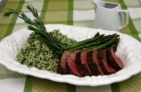 Rosemary & Fennel Crusted Chateaubriand w/ Couscous Risotto