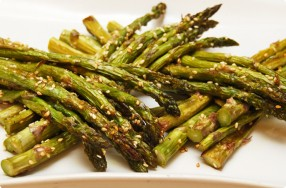 Roasted Asparagus w/ Sesame Seeds