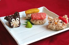Rice Crispy Critters & Sushi