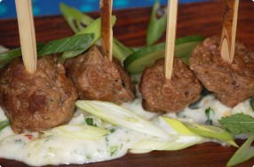 Lamb Brochettes w/ Yogurt Sauce