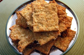Parmesan Crackers w/ Fennel Seed & Cracked Black Pepper