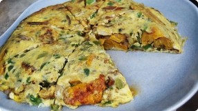Sweet Plantain & Potato Omelette