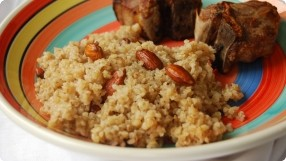Bulgur w/ Buttered Almonds & Cinnamon