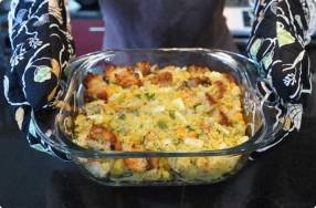 Oyster Cornbread Stuffing