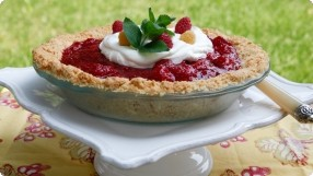 Raspberry Ice Box Pie
