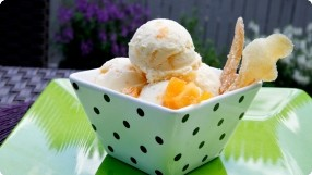Peach-Ginger Ice Cream