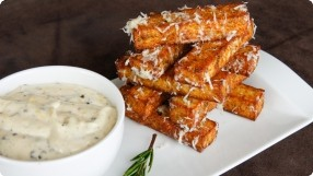 Polenta Fries w/ Lemon-Truffle Mayonnaise