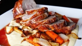 Roasted Pork w/ Maple-Orange Glaze