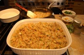 Uncle Frank's Oyster Stuffing
