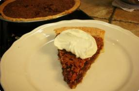 Pecan Pie with Fresh Whipped Cream