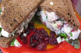 Turkey Salad, Cranberry Mayo & Pecans