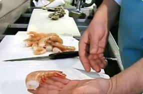 Deveining Shrimp