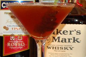 Sour Cherry Manhattan