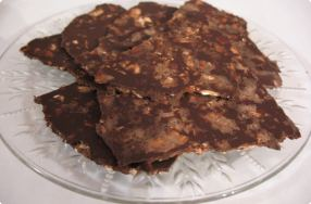 Chocolate Bark with Toasted Almonds