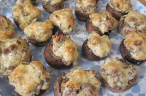 Sausage & Cheese Stuffed Mushrooms