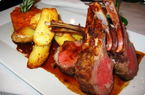 Herb-Crusted Rack of Lamb Dinner