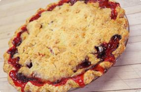 Plum & Strawberry Pie