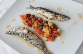 Grilled Sardines w/ Preserved Lemon Relish
