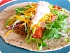 Bulgur Tacos with Roasted Red Pepper Sour Cream