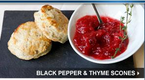 Black Pepper & Thyme Scones