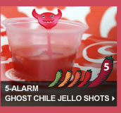 5-Alarm Ghost Chile Jello Shots
