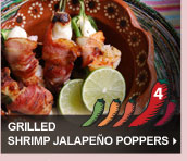 Grilled Shrimp Jalapeno Poppers