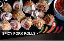 Spicy Pork Rolls