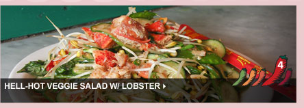Hell-Hot Veggie Salad w/ Lobster