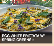 Egg White Frittata w/ Spring Greens