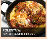 Polenta w/ Spicy Baked Eggs