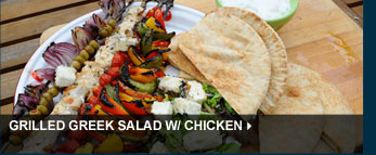 Grilled Greek Salad w/ Chicken