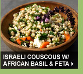 Israeli Couscous w/ African Basil & Feta