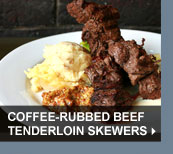 Coffee-Rubbed Beef Tenderloin Skewers
