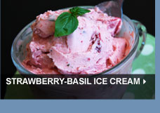 Strawberry-Basil Ice Cream