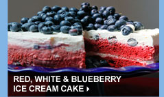 Red, White & Blueberry Ice Cream Cake
