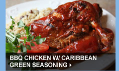 BBQ Chicken w/ Caribbean Green Seasoning