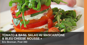 Tomato &amp; Basil Salad w/ Mascarpone