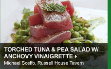 Torched Tuna &amp; Pea Salad