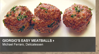 Giorgio's Easy Meatballs