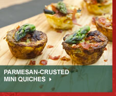Parmesan-Crusted Mini Quiches