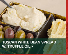 Tuscan White Bean Spread w/ Truffle Oil
