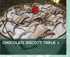 Chocolate Biscotti Trifle